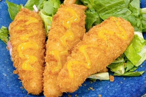 ハニーマスタード香る  鶏ささみフライ